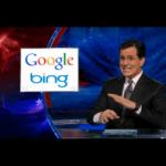 "Stephen Colbert to Bing, you got ""hiybbprqag!"""