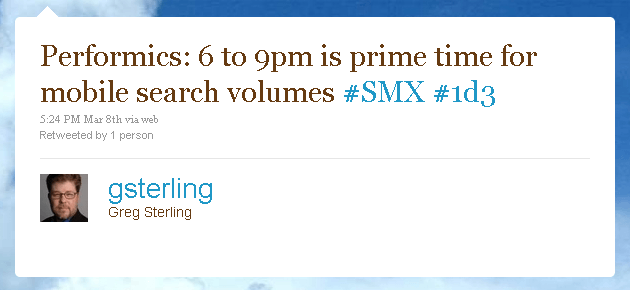 6-9 is Mobile Search Primetime SMX
