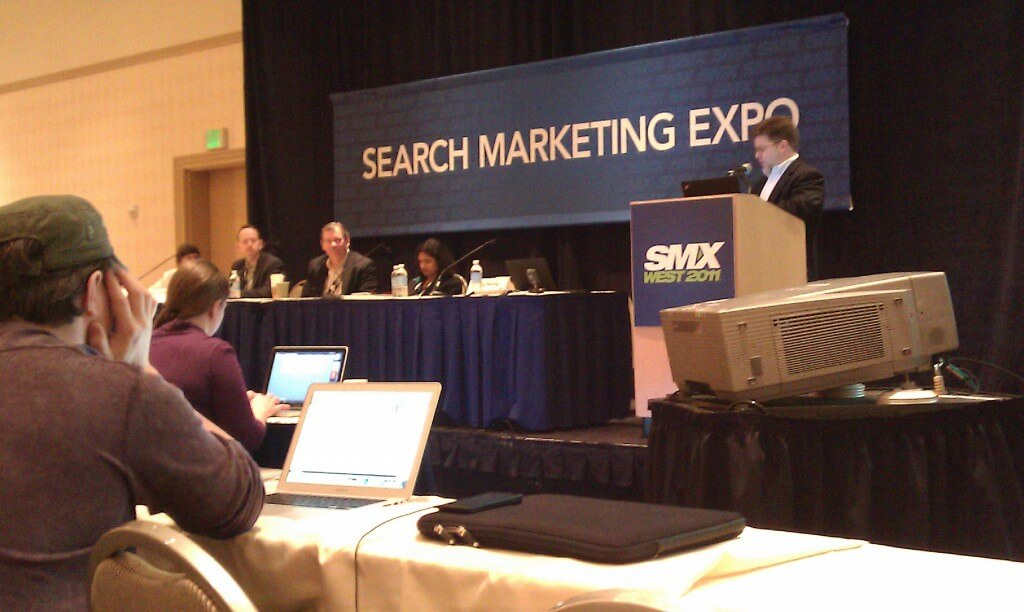 Bruce Clay speaking at SMX West