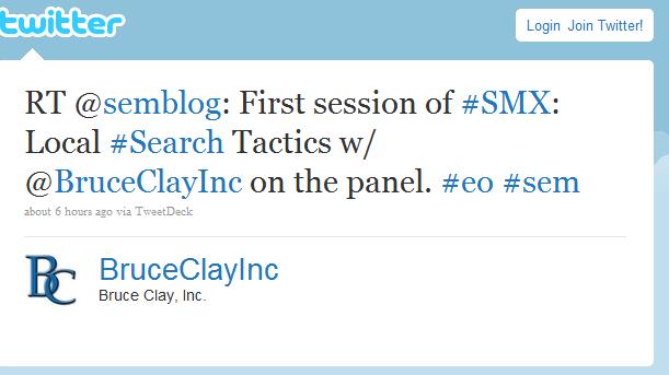 Bruce Clay Inc. Retweets the Schipul SEM blog
