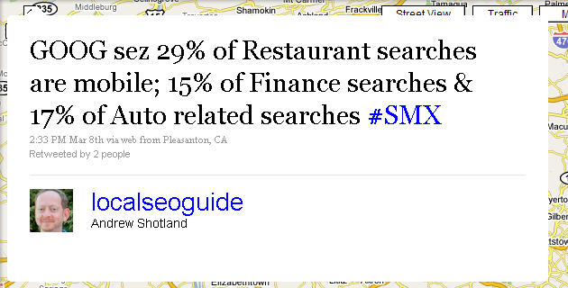 Mobile Search Tweet from SMX