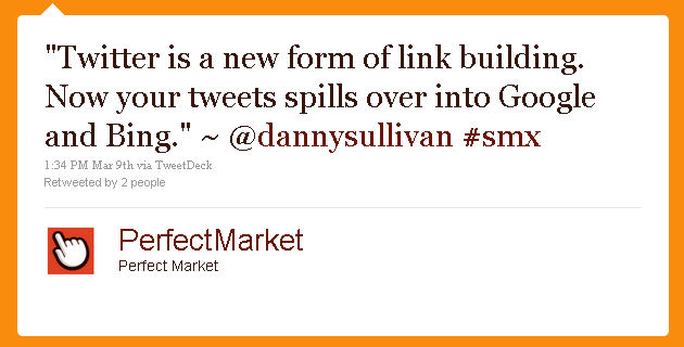 Twitter as Link Building @DannySullivan