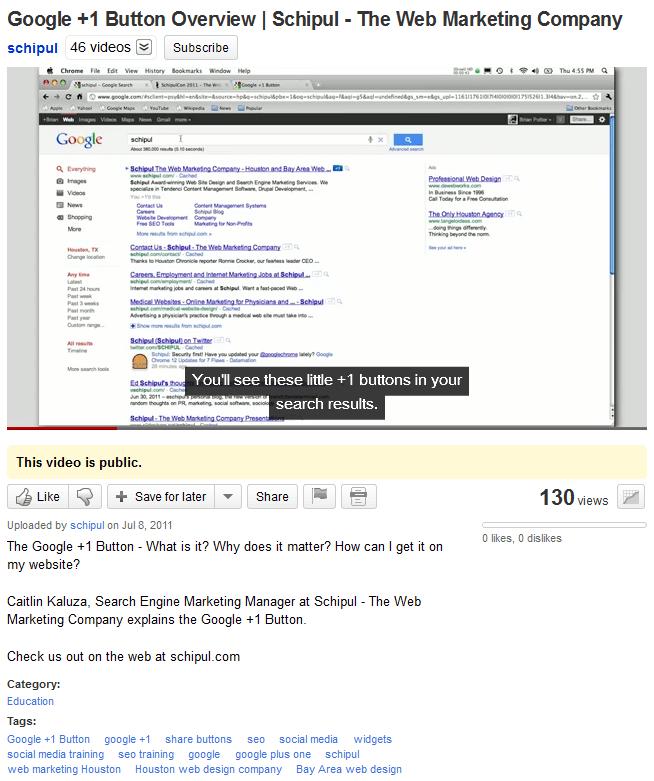 Schipul YouTube Optimization