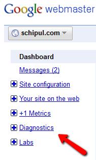 Webmaster Tools Dashboard