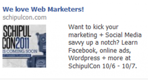Facebook Ad for SchipulCon
