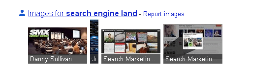 GooglePlus Photos in SERPS Example