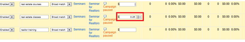Google Adwords Editor - Advanced Bid Changes