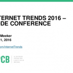 2016 Internet Trends from Mary Meeker